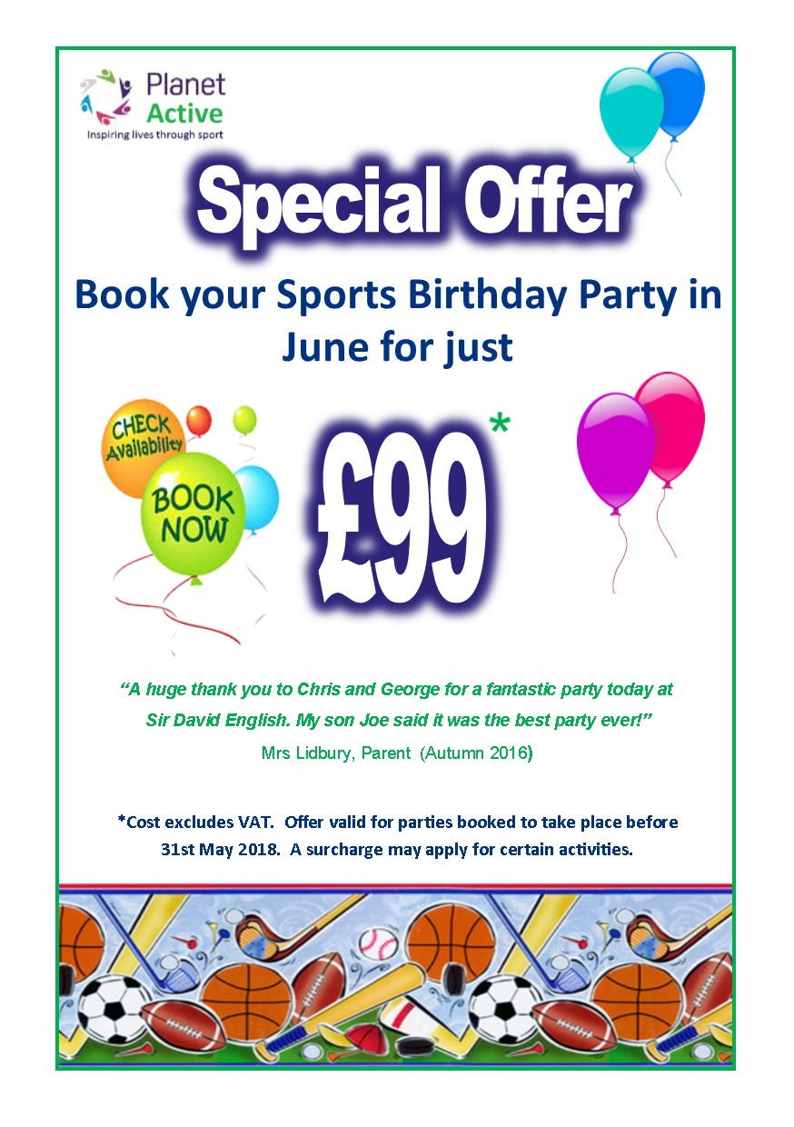 4 Birthday Offer June 17