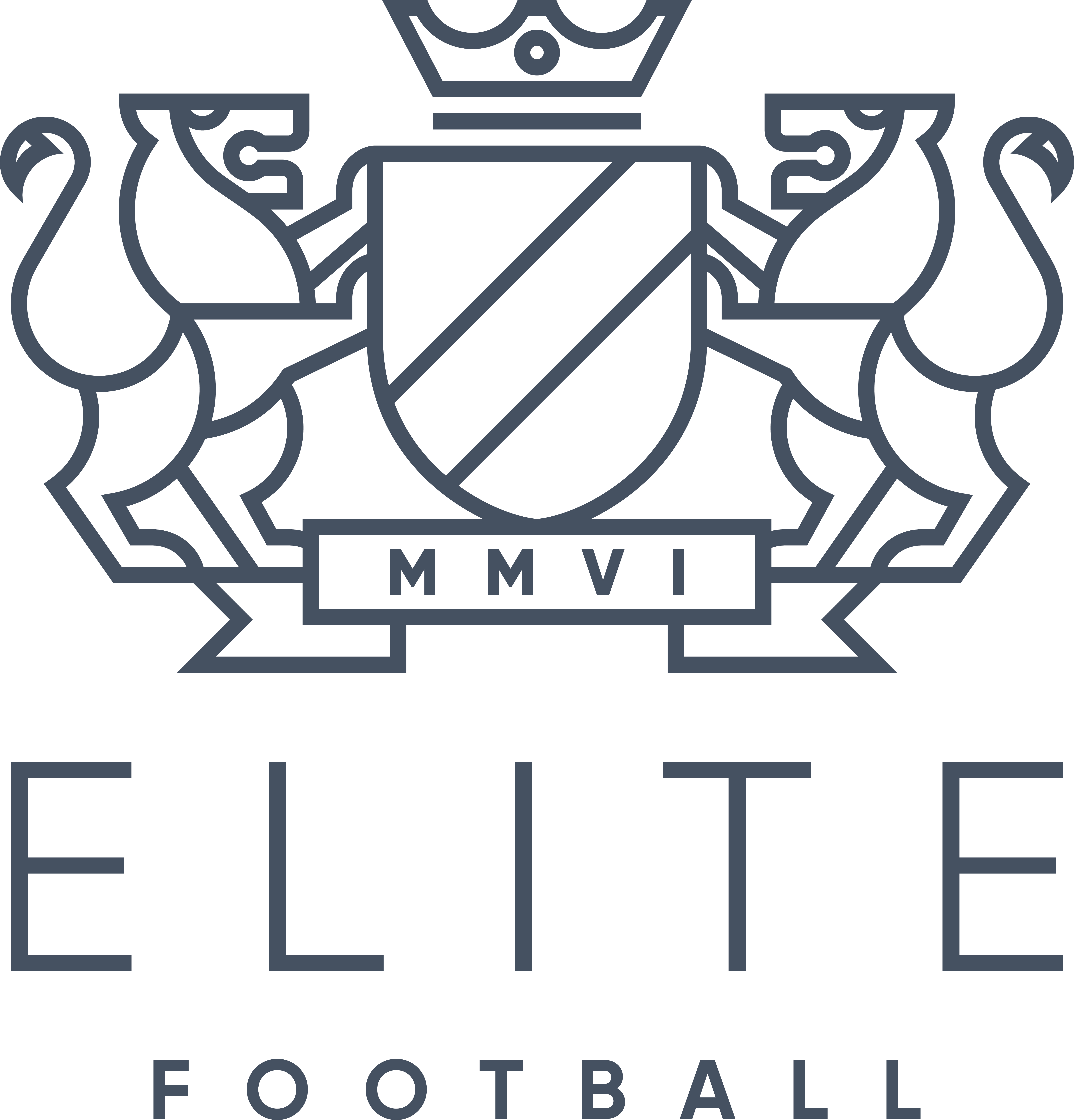 ELITE FOOTBALL LOGO NAVY